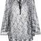 Missoni round neck shift dress, women's, size: 46, black, viscose