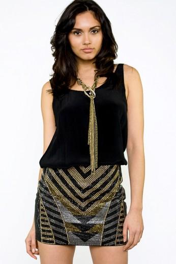 Tribal Beaded Skirt- $78