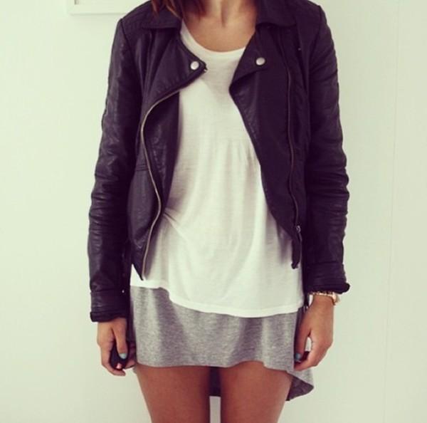 jacket leather jacket biker jacket black leather jacket