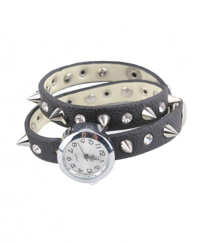 Retro Spiked Stud Wrapped Watch - Bracelets & Bangles - Jewellery - Accessories