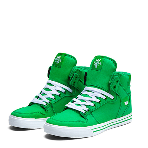 shoes vaider green white love supra