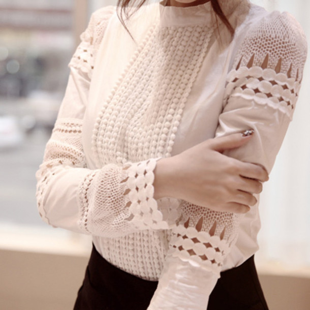 blouse blusas femininas lace blouses lace shirt white lace blouse hollow out tropical shirt