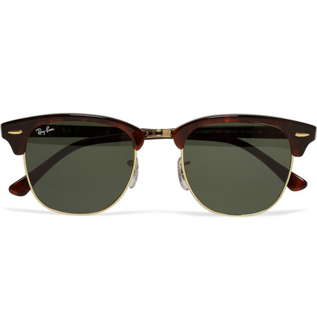 Ray-Ban - Clubmaster Acetate and Metal Sunglasses|MR PORTER
