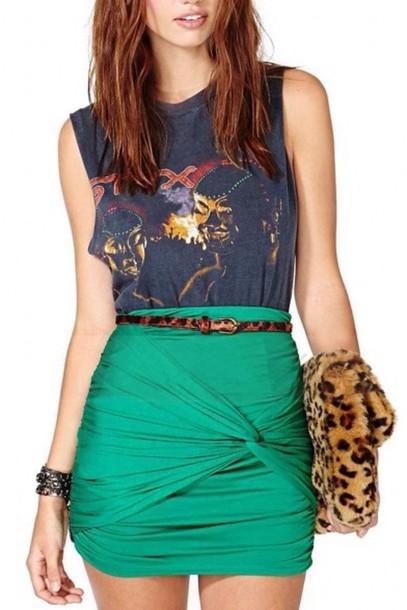 skirt print turquoise
