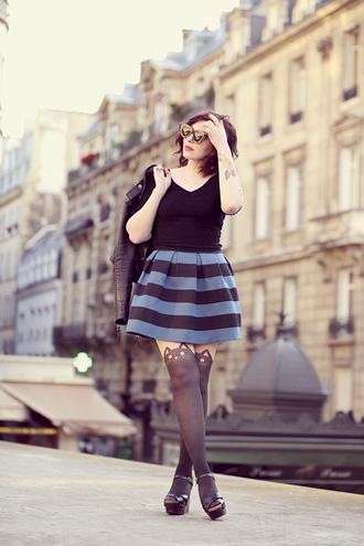keiko lynn top skirt tights shoes jacket socks