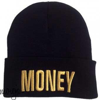 Money Beanie Beanies Mütze Hat Blogger Schriftzug Letters Aufschrift Accessoires / Mode Mützen / Beanies
