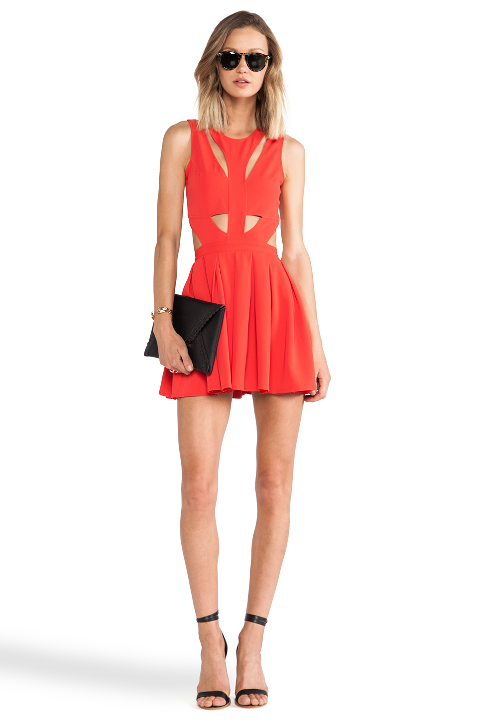 Lovers   Friends Cutting Corners Dress in Poppy | REVOLVE