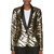 rodarte gold lam tiger stripe jacket