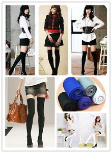 Lady Girl Fashion Long Cotton Stockings Thinner Over The Knee Socks Thigh High | eBay