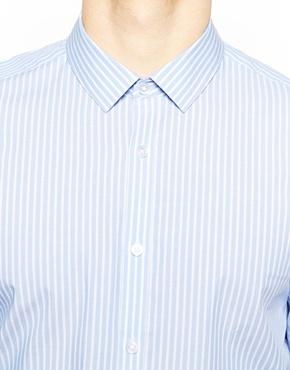ASOS   ASOS Shirt In Long Sleeve With Bold Stripe at ASOS