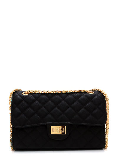 GJ | Quilty Thoughts Purse $39.00 in BLACKGOLD GOLD - Quilted! | GoJane.com