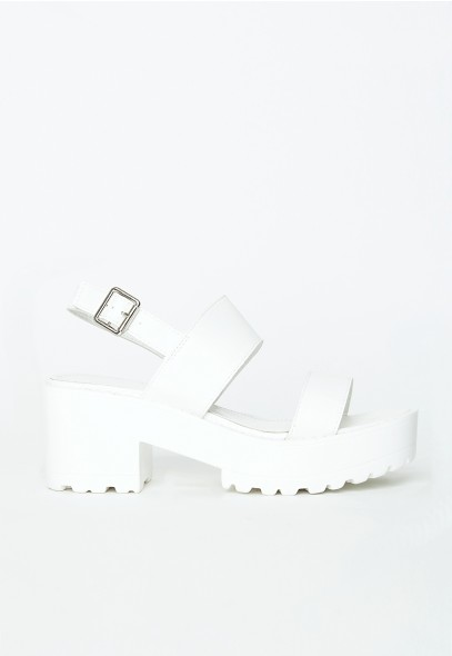 Waverly White Platform Sandals - Sandals - Missguided