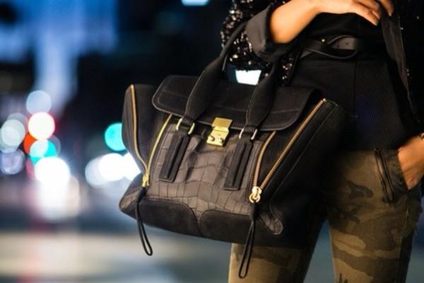 bag black bag with gold details