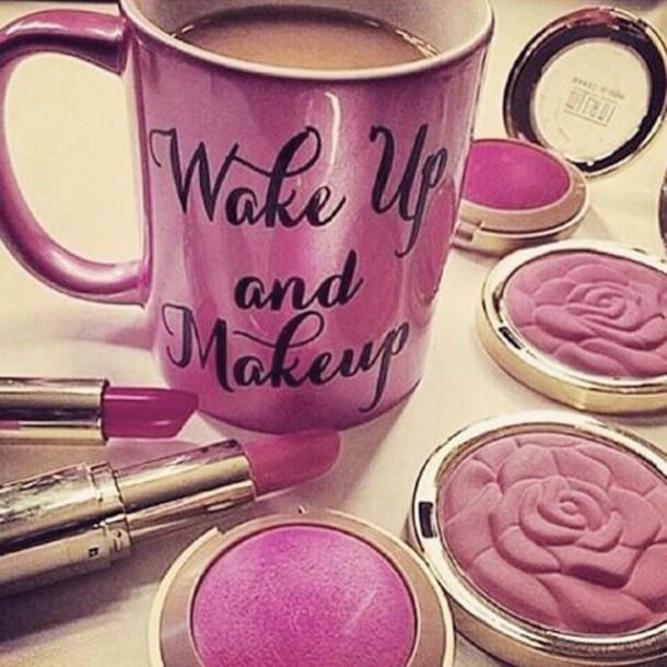 make-up mug home accessory girly cup