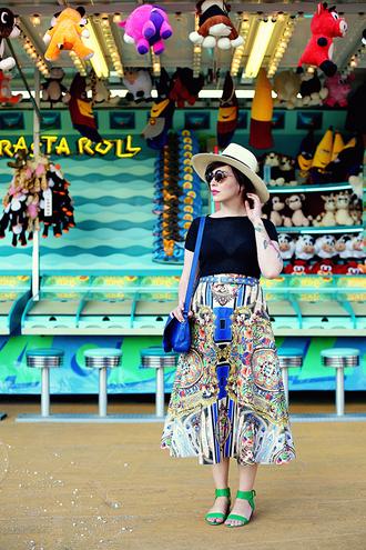 bag top skirt shoes sunglasses keiko lynn belt make-up