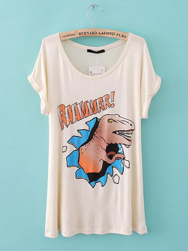 t-shirt white t-shirt style punk casual t-shirt