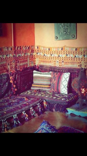home accessory hippie boho pillow tribal pattern sofa
