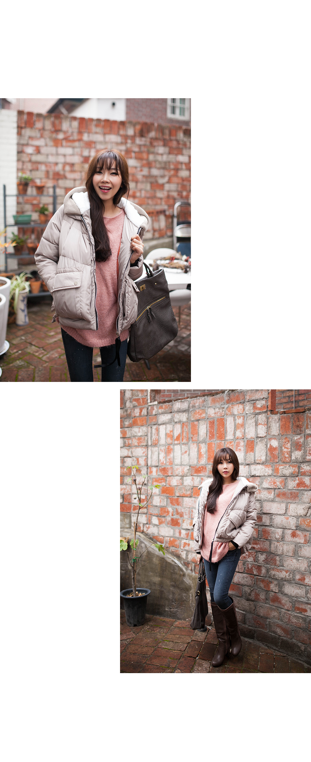 Loose-Fit Knit Top, Pink , One Size - 2fb   YESSTYLE Hong Kong