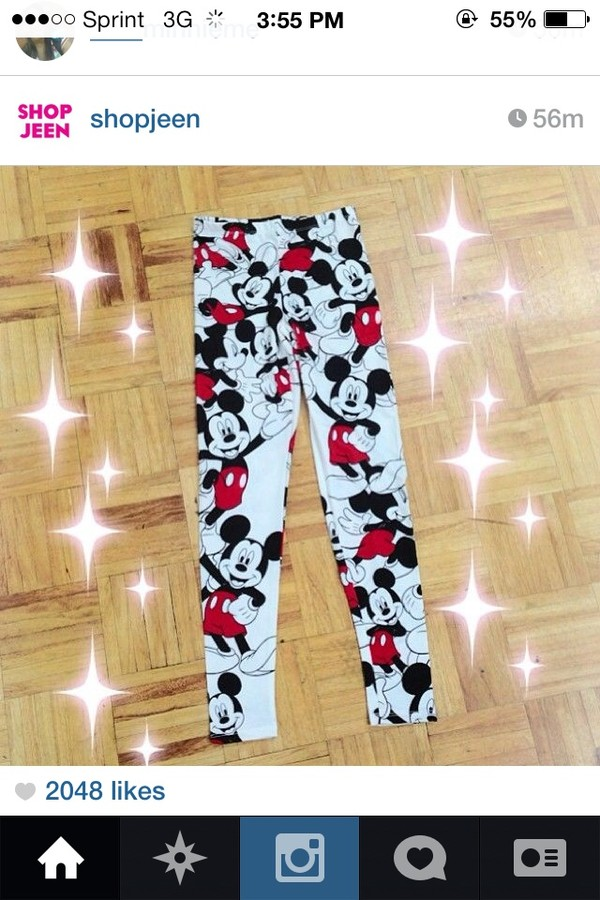 jeans leggings tights mickey mouse
