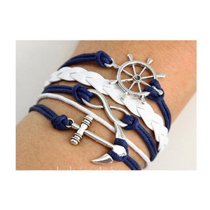Mix Infinity Anchor Rudder Owl Leather Nautical Friendship Bracelet Couple Gift | eBay