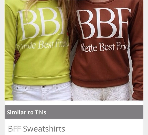 shirt bff sweatshirt friends bff cute