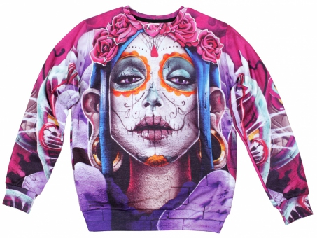 Original SEXY SWEATER MEXICAN SKULL   Fusion® clothing!