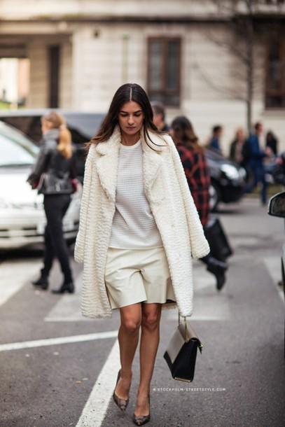 coat top shorts bag shoes