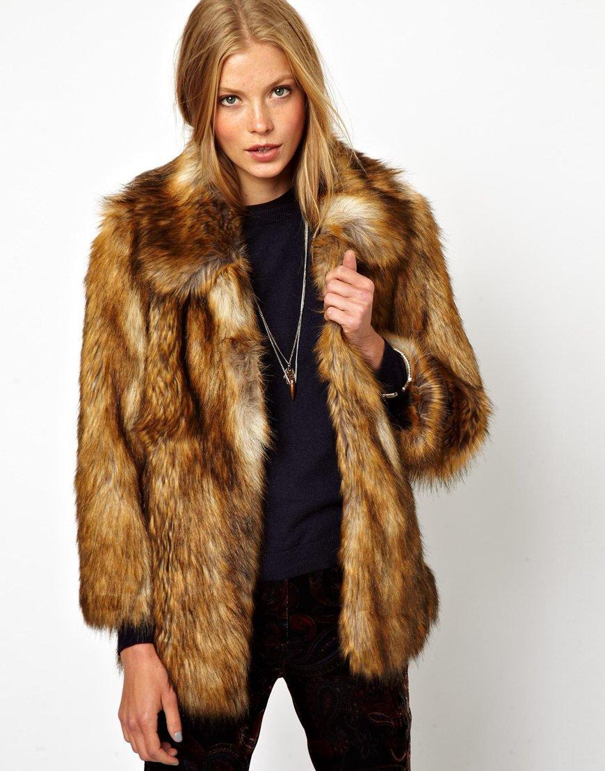 ASOS Vintage Faux Fur Coat on Wanelo