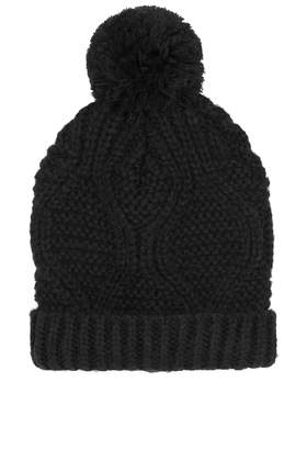 Cable Pom Beanie - Hats  - Bags & Accessories  - Topshop