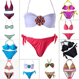 New 2 Pcs Women Hot Sexy Swimsuit Swimwear Bathing Push Up Padded Bra Bikini | eBay