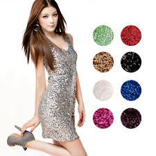Bling Glitter V Neck Bodycon Clubwear Party Focus Prom Cocktail Homecoming Dress | eBay