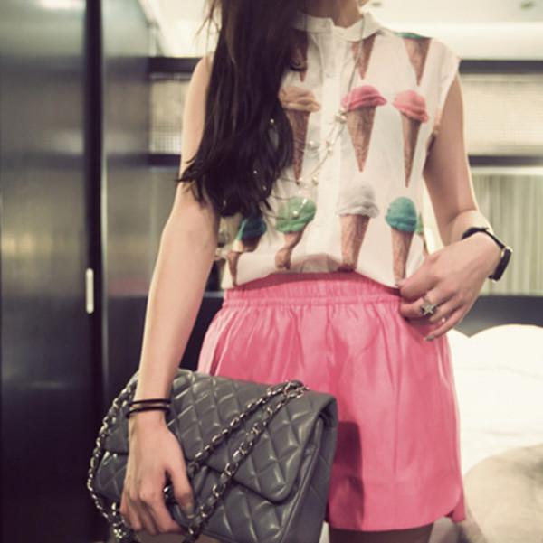 top ice cream blouse