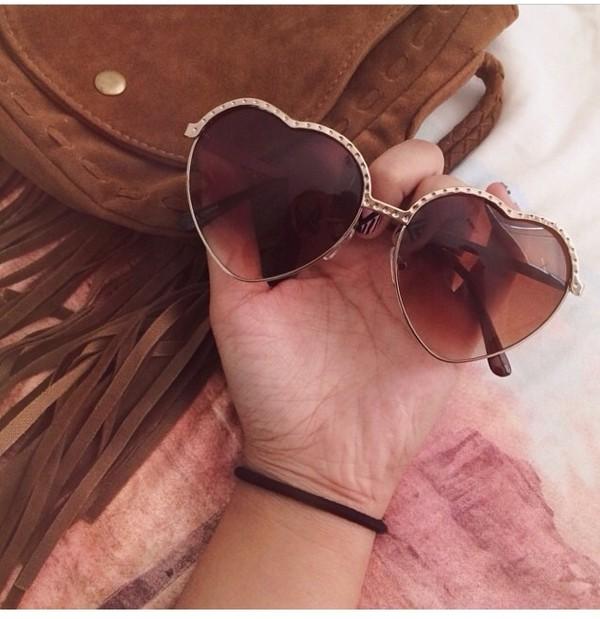 sunglasses heart cool style shades sunglasses. heart sunglasses