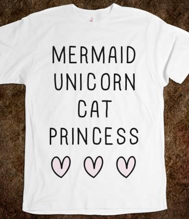 Mermaid Unicorn Cat Princess - Mermaid Closet - Skreened T-shirts, Organic Shirts, Hoodies, Kids Tees, Baby One-Pieces and Tote Bags Custom T-Shirts, Organic Shirts, Hoodies, Novelty Gifts, Kids Apparel, Baby One-Pieces | Skreened - Ethical Custom Apparel