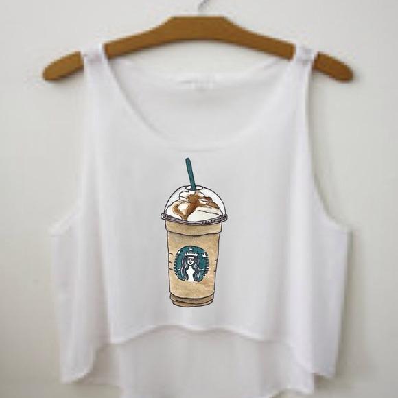 Starbucks Tank All from Handmade graphics's closet on Poshmark