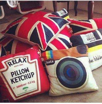 bag lovely pillows pillow instagram ketchup red union jack