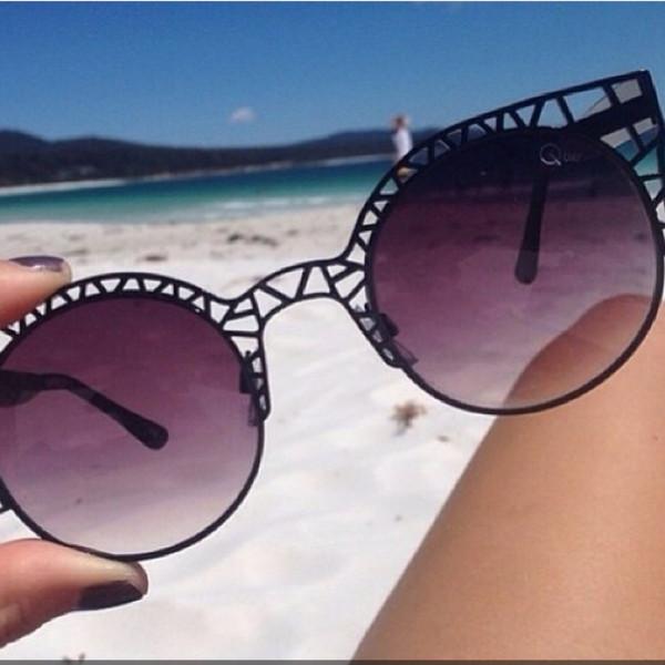 sunglasses black beach round sunglasses