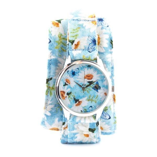 jewels butterfly camomile baby blue white watch watch ziz watch ziziztime