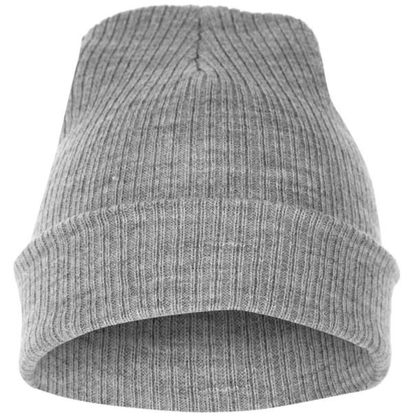 Grey Ribbed Beanie - Polyvore