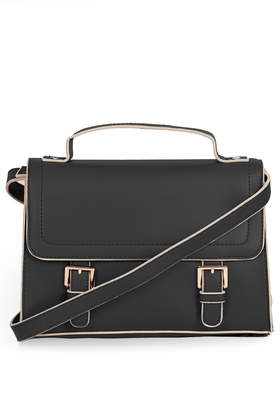 Double Buckle Satchel - New In This Week  - New In  - Topshop