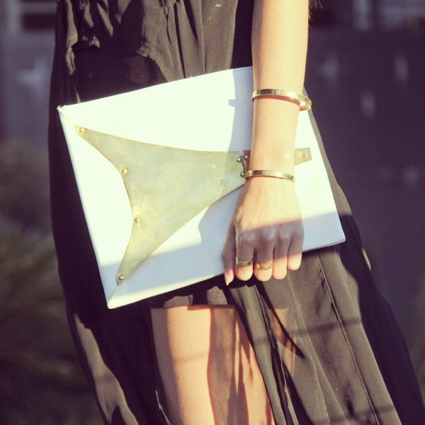bag clutch blogger ekoluv leather bag leather clutch fair trade fair trade bag vintage vintage dress