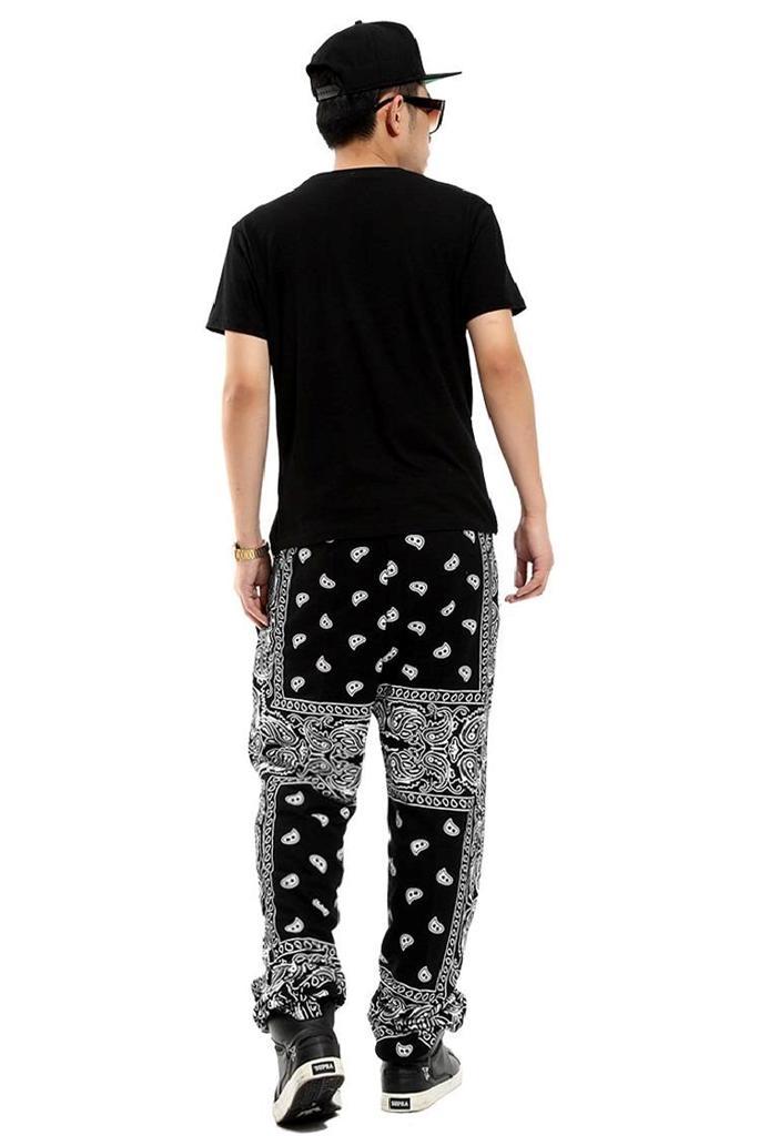 3 4P Hip Hop Men Paisley Pattern Cotton Street Dancing Sweatpants Harem Pants   eBay
