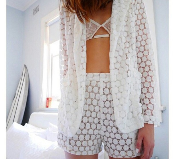 jumpsuit shorts lace blazer lace shorts casual sleep beauty guide trendy trendy trendy fashion inspo chill on point clothing blogger style stylish style