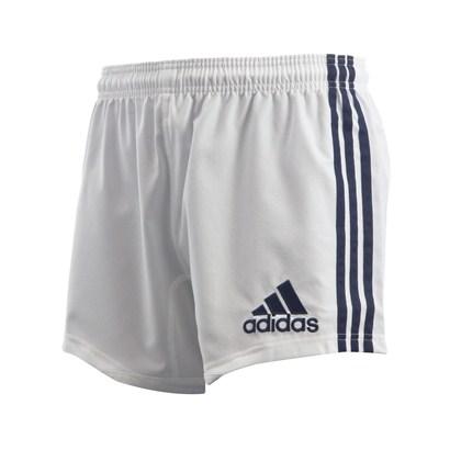 adidas Teamwear 3 Stripe Shorts White/Navy | rugbystore