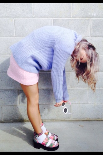 skirt pink comfy cute crop tops sweater lavender tank top style sassy indian indie boho floral floral tank top flowered shorts scalloped edges comfysweater sweatshirt sunglasses pink dress dress blonde hair bohemian colorful patterns light pink grunge tumblr tumblr girl shoes