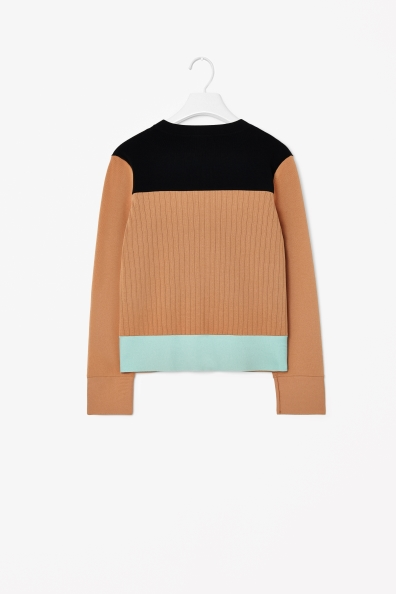 Block-coloured cardigan