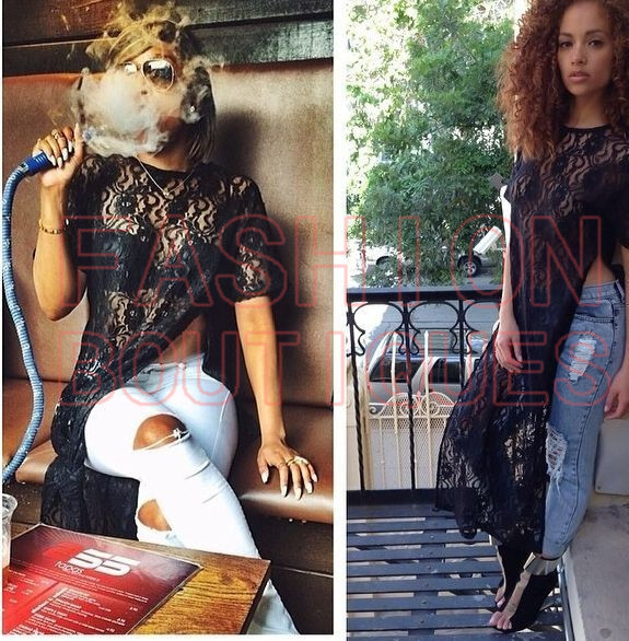 2014 Black Lace Dress Sexy Celebrity Women Boutique Casual Jumpsuit Ladies BodyCon Bandage Maxi Long Party Cocktail Dress D0614-in Apparel & Accessories on Aliexpress.com