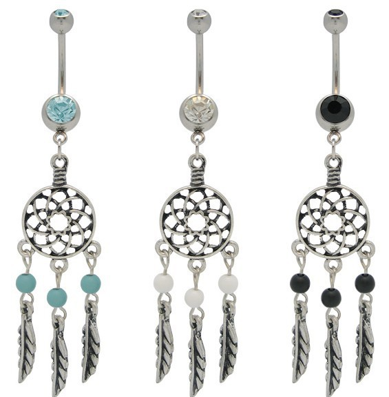 Free Shipping trendy  jewelry 2013 trendy earing Gem Dream Catcher Net Belly Dangle Navel Bar Ring Body Jewellery 12pcs-in Body Jewelry from Jewelry on Aliexpress.com