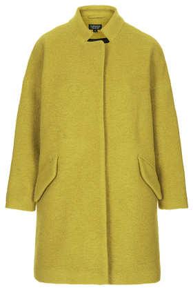 Wool Notch Neck Coat - Jackets & Coats  - Clothing  - Topshop USA