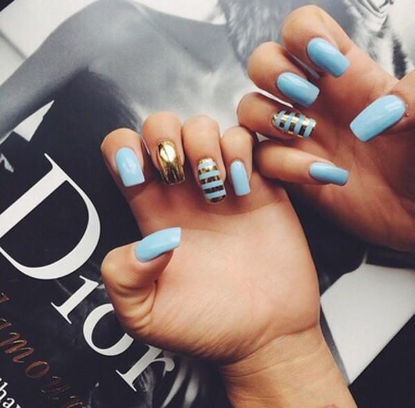 nail polish baby blue light blue